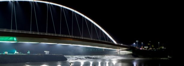 The new Cittadella Bridge architectural lighting