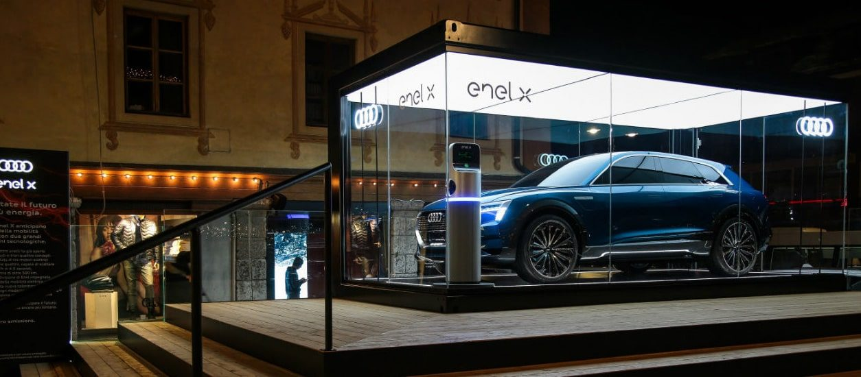 Enel and Audi join forces on electric mobility in Cortina