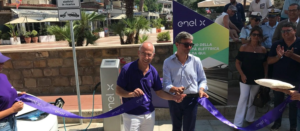 Environmental sustainability and zero impact tourism: charging stations for e-vehicles are installed in Castellabate