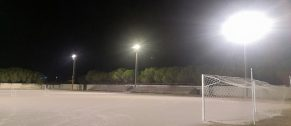LED lighting for the Marrubiu sports ground in Sardinia