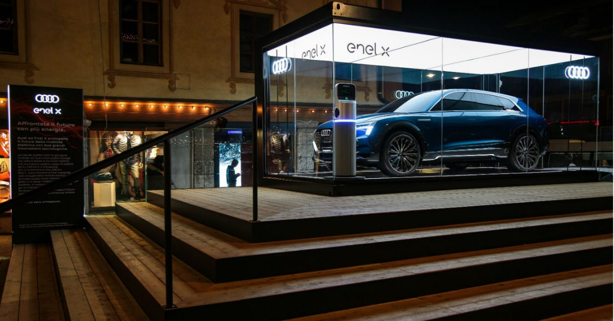 Air Service Center Cortina.Enel And Audi Join Forces On Electric Mobility In Cortina Enel X